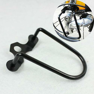 New Black Cycling Bike Steel Iron Bicycle Rear Derailleur Chain  Guard Protector