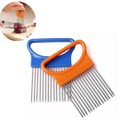 1PC Onion Tomato Vegetable Slicer Cutting Aid Guide Holder Slicing Cutter Gadget