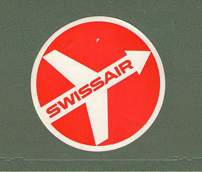 Airline label luggage labels Swissair #430