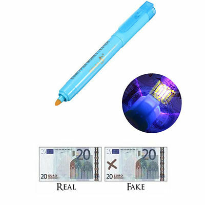 Counterfeit Banknotes Check Detector Fake Money Marker Tester Pen With UV light
