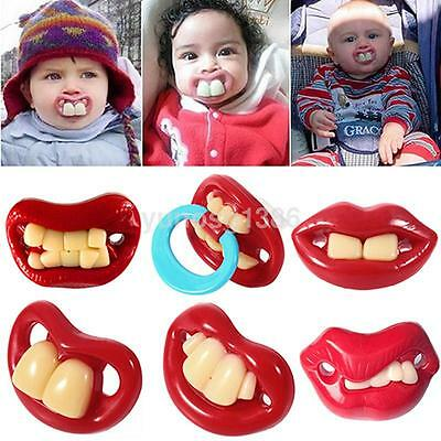 Baby Soothing Pacifier with Funny Buck Teeth Baby Nipples For Boy Girl Newborn Y