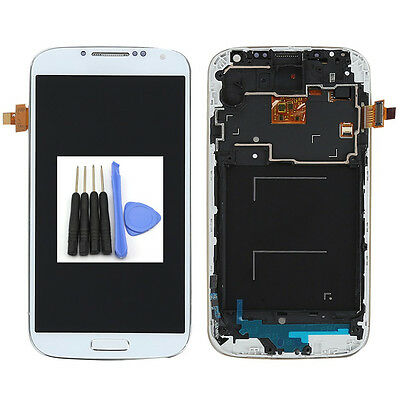 Front Full LCD Touch Screen Glass Digitizer + Frame for Samsung Galaxy S4 i9505