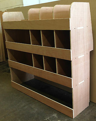 New 2014 Ford Transit Connect SWB Full Driver Side Plywood Racking Shelving