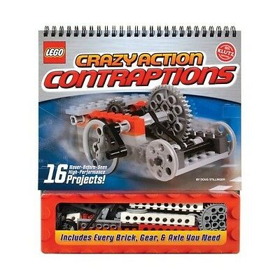 Klutz Lego Crazy Action Contraptions Activity Book 16 Projects models to make