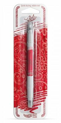 Rainbow Dust RED Double Ended Edible Food Art Pen