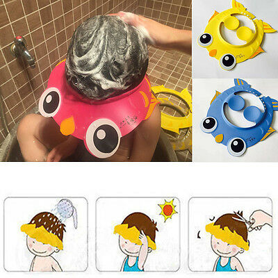 Shampoo Shower Bathing Protect Soft Cap Hat for Baby Children Kid Bath Safe