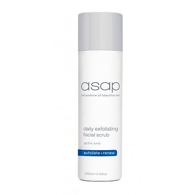 ASAP Daily Exfoliating Facial Scrub 200ml Authentic Exfoliator Skin Cell Renewal