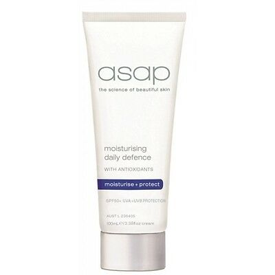 ASAP Moisturising Daily Defence SPF50+ 100ml Authentic Skin Protection Hydration
