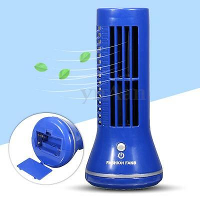 Portable 2 Mode Desk Mini USB Tower Fan Cooling Bladeless Laptop Air Conditioner