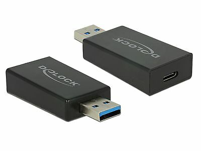 Delock Adapter SuperSpeed USB 10 Gbps Typ-A Stecker   USB Type-C Buchse 65689