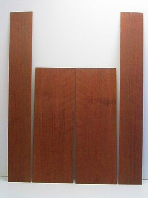 Bookmatched Quartersawn Peruvian Walnut Acoustic Guitar Backs and Sides