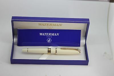 Waterman Charleston Black & Gold  Rollerball Pen New In Box
