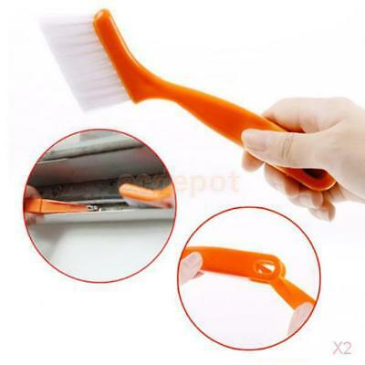 2x Multifunctional Window Track Cleaning Brush Keyboard Cranny Dust Shovel Tool
