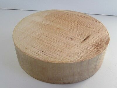 Bigleaf Figured Curly Maple Bowl Turning Blank (2.5'' x 10'')