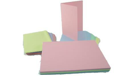 Craft UK Blank Greeting Cards & Envelopes - A6/C6 Size Pastel Packs of 50
