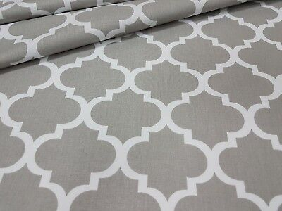 LOVELY ,grey quaterfoil  FABRIC 100%COTTON 160cm wide