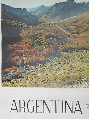 Vintage ARGENTINA Travel Tourism Airline Advertising Poster