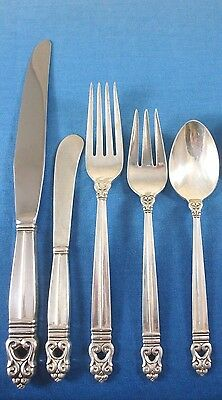 Royal Danish by International Sterling Silver Flatware Set Service 44 Pieces