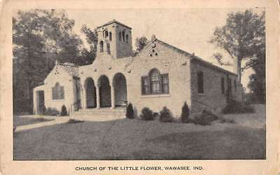 Wawasee Indiana view of Church of the Little Flower antique pc Z12919