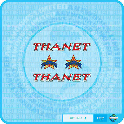 Stickers Thanet Bicycle Decals Transfers Set 1