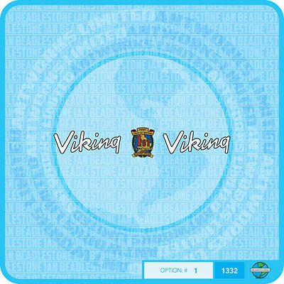 Stickers Viking Set 2 1960/'s Severn Valley Bicycle Decals Transfers