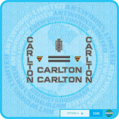 Transfers 07040 Carlton Bicycle Fork Stickers Decals