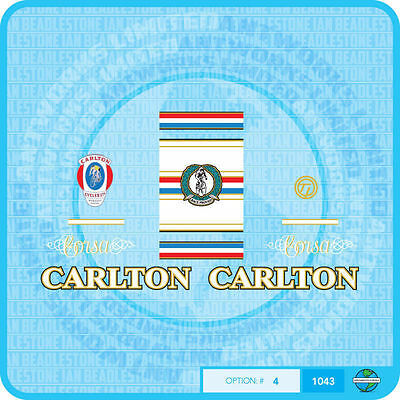Transfers Decals 07040 Carlton Bicycle Fork Stickers