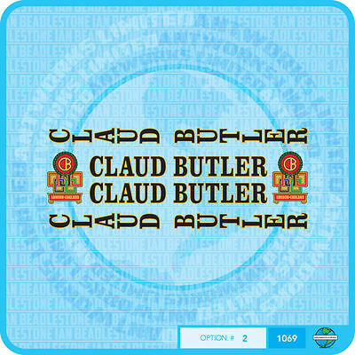 Decals Transfers 07061 Claud Butler Bicycle Head Badges Stickers