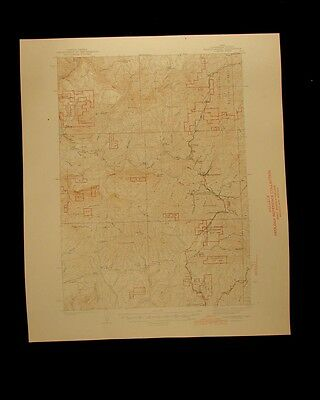Headquarters Idaho vintage 1944 original USGS Topographical chart