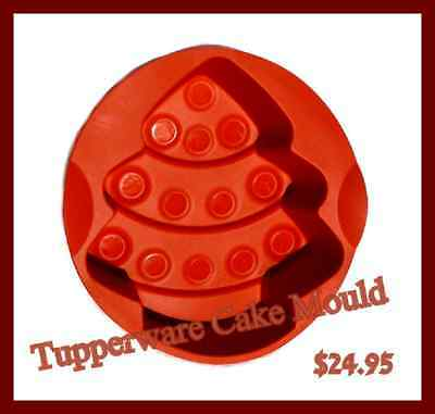Tupperware Christmas Tree Silicone Baking Form New Red ex demo but never used
