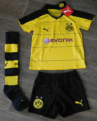 Borussia Dortmund Home Mini Kit BVB Puma Kit 2015/2016 Brand New