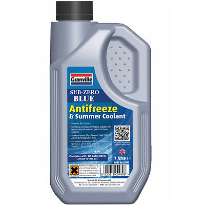 Granville Sub-Zero Blue Concentrate Antifreeze & Summer Coolant 1 Litre