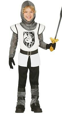 Boys Brave Knight Medieval Historical Book Fancy Dress Costume Outfit 3-12yrs