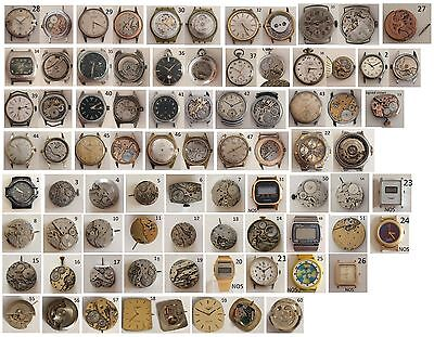 (6) Orologio - Calibro - Movimento Vintage Work /To Spare Parts or Repair