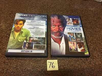 Movies of Excellence: 6 Film Collection (DVD, 2014, 2-Disc Set) Morgan Freeman