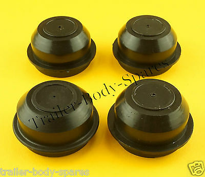 FREE UK Post - 4 x 52mm Plastic Grease Hub Dust Wheel Cap for Trailers
