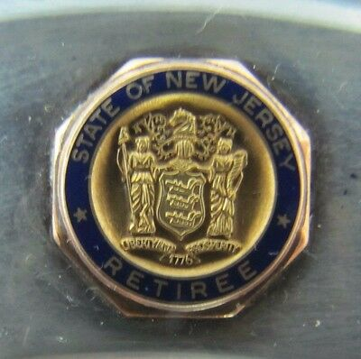 Sterling Gold 1967 State of New Jersey Division of Tax Appeals Retirement Plate