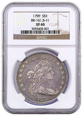 1799 Draped Bust Dollar BB-161, B-11 NGC XF40 SKU41647