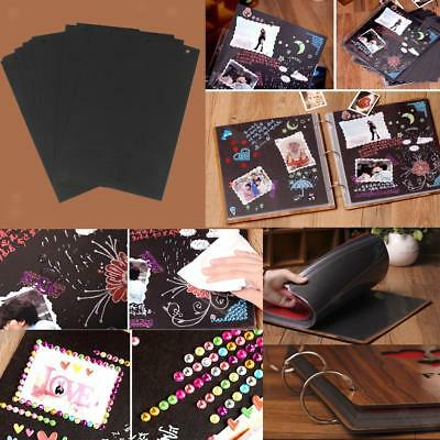 30pcs Blank Mountboard Pages Scrapbooking Notebook Photo Album Wedding DIY Craft