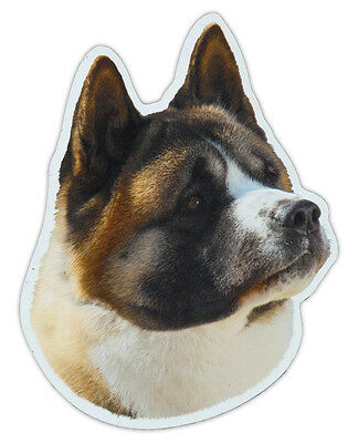 Magnetic Bumper Sticker - Akita Dog Breed Picture Magnet - Cars, Trucks, SUVs