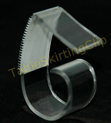 "250 Large Table Skirting Skirt Clips | Clip Fits Table Edges 1.25"" To 2.5"" Thick"