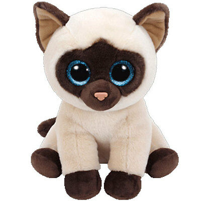 TY Classic Plush - JADEN the Siamese Cat (9.5 inch) - MWMTs Stuffed Animal Toy