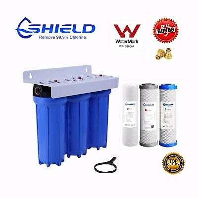 TRIPLE Heavy Duty Caravan Boat RV Water Filter System 3 Stages  Camping Camper