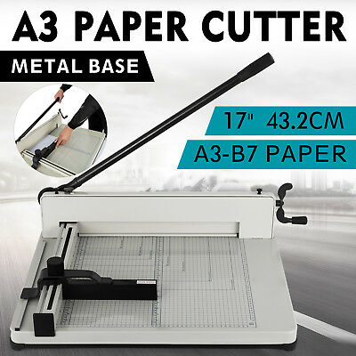 "17"" A3 Paper Cutters Guillotines Trimmers Office Heavy Duty Cutting Tool"