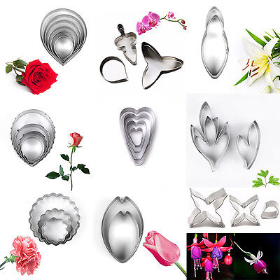 16 Styles Flower Petal Leaf Biscuit Cookie Cutter Cake Decor Pastry Baking Molds