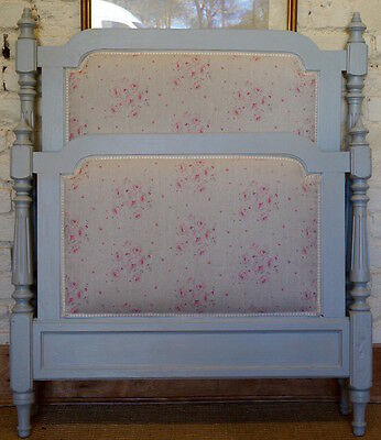 French Antique Painted Single Bed - Shabby Chic