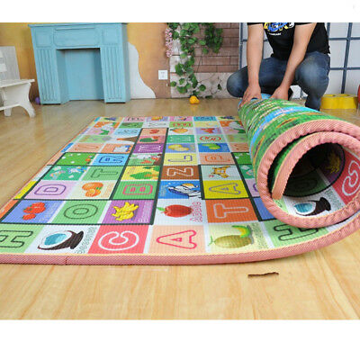 200*180*1.5CM Nontoxic Baby Kids Play Mat Floor Rug Picnic Cushion Crawling Mat