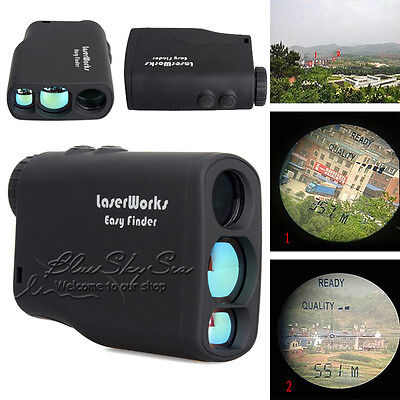Laser Range Finder Distance Speed Measuring Hunting Golf Sports Measurer 600m