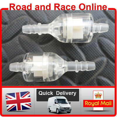 Universal Inline Fuel Filter / Petrol Filter For Use With 5-6mm ID Fuel Pipe