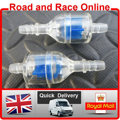 Universal Inline Fuel Filter For Use With 5-6mm ID Fuel Pipe Blue Petrol Filter